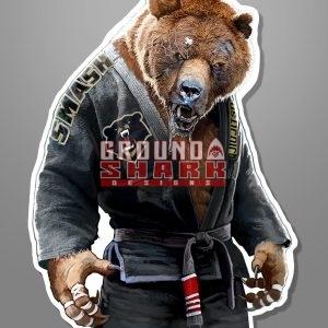 Grizzly Jiu-Jitsu Sticker Die Cut
