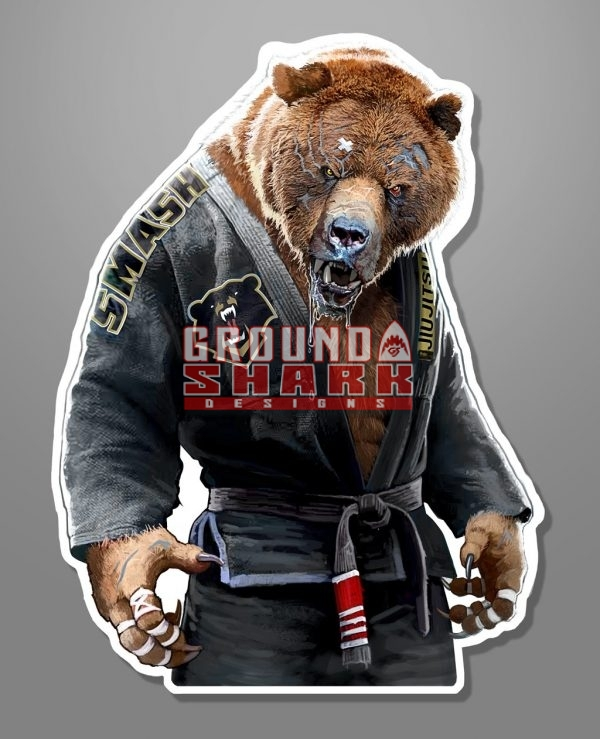 Grizzly Jiu-Jitsu Sticker Die Cut