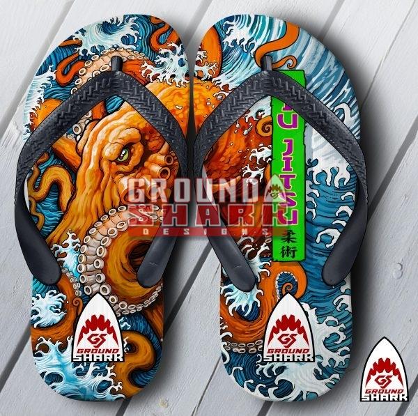 Jiu Jitsu Octopus Mat Flip Flops