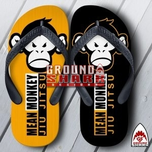 Mean Monkey Mat Flip Flops