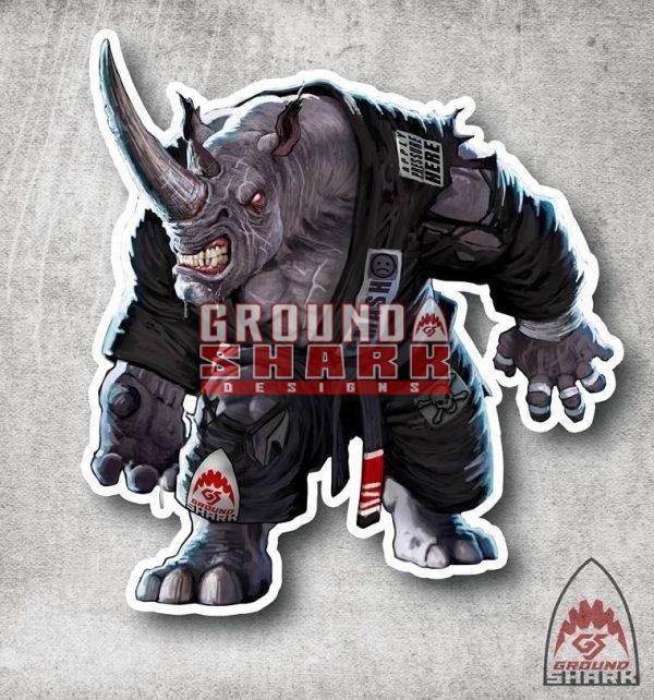 Pressure Rhino Sticker